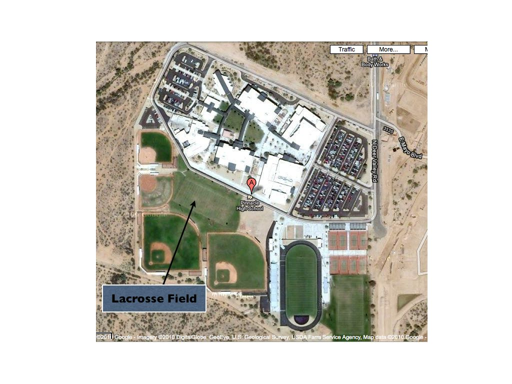 Red Mountain High School Campus Map.Directions Arizona Girls Lacrosse Association